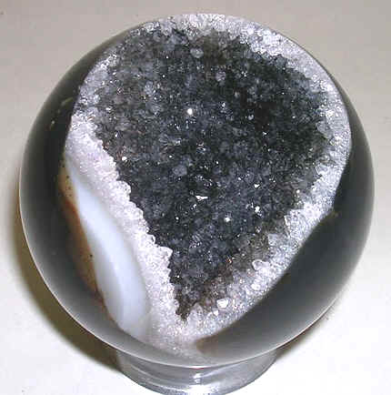 quartz geode sphere