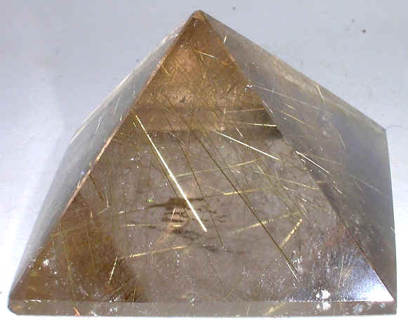 Rutilated Quartz Pyramid